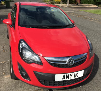 AMY 1K Number Plate