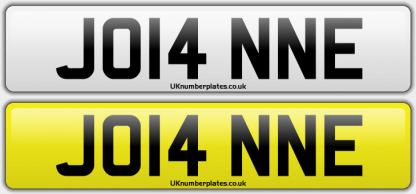 Joanne Number Plate